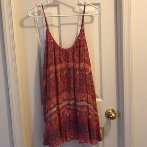 Free people patterned dress size xs